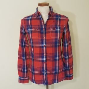 Kuhl Red Plaid Button Down Shirt